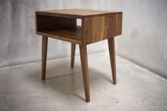 Solid Black Walnut Side Table/ Nightstand with Tapered Legs by solidwoodlimited on Etsy https://www.etsy.com/listing/169068905/solid-black-walnut-side-table-nightstand