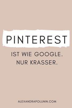 Pinterest ist kein Social-Media-Kanal – Pinterest ist eine (visuelle) Suchmaschine. Was Pinterest im Gegensatz zu Google ausmacht und wie die Suchmaschine Pinterest genau funktioniert, verrate ich dir in diesem Blogartikel. #pinterestseo #pinteresttipps #