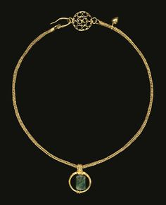 A Gold and Emerald Necklace, probably Egypt, late Roman or early Byzantine, circa 3rd/4th Century A.D.