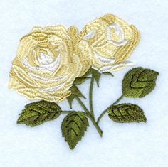 "Since my first Janome 8000, my favorite machine embroidery designs have been flowers such as this one. 2.79"" x 3.20"". Roses. Free Embroidery Designs and Free Embroidery Downloads 
