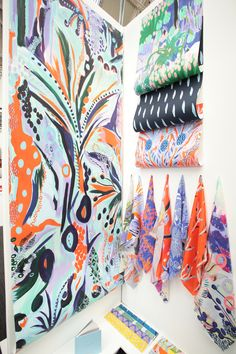 Design Exhibition Display Colour 46 New Ideas Textile Prints, Textile Patterns, Textile Design, Print Patterns, Design Art, Print Design, Digital Print Textiles, Pattern Designs, Paper Design