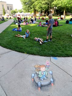 David Zinn: Sluggo on the street | Canine doubts notwithstanding, the test flight was...