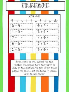 Number line addition practice