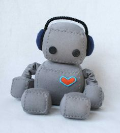 Love these little stuffed robots!