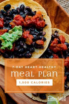 Keep your heart healthy and lose weight with this delicious meal plan. 1500 Calorie Meal Plan, 500 Calorie Meals, Ketogenic Diet Meal Plan, Diet Meal Plans, Meal Prep, Heart Healthy Recipes, Healthy Foods, Healthy Weight, Healthy Options