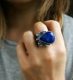 Deep Blue Magic Lapis Lazuli Sterling Silver Ring