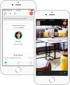 Fountain, a new app that connects you to an architect, interior designer, electrician, appliance specialist, plumber, flooring expert, master gardener, general contractor, etc who can answer your burning DIY questions.