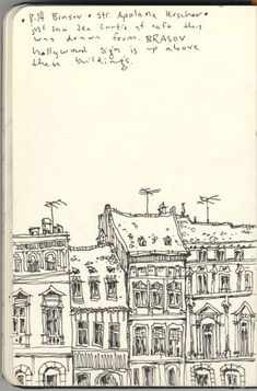 Super cool sketch of buildings in Brasov, Romania. Seeing this makes me really miss all my friends and the time I've spent in RO.