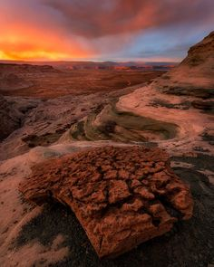 The sky explodes with color over Stud Horse Point by Aron Cooperman #Utah #sunset