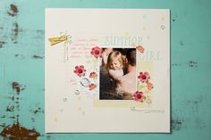 We love the dimensions the delicate flowers from Summer Silhouettes add to this layout.