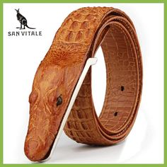 Cheap belt belt, Buy Quality belt leather mens directly from China leather belts uk Suppliers: Mens Belts Luxury cow Leather Designer Belt Men High Quality Ceinture Homme Cinto Masculino Luxo Crocodile Cinturones Hombre Leather Belts, Cow Leather, Men's Belts, Crocodile, Ceinture Louis Vuitton, Belted Cow, Leather Fashion, Mens Fashion, Luxury Belts