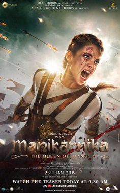 Manikarnika - The Queen of Jhansi is upcoming Bollywood movie which is directed by Krish, starring Kangna Ranaut as The Queen of Jhansi. Hindi Movies, Dc Movies, Movies 2019, Movies Free, Woman Show, Hollywood Action Movies, Bollywood Movies Online, Download Free Movies Online, Ingmar Bergman