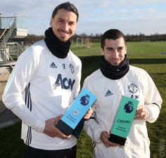 @Ibra_official: @EASPORTS Player of the Month @HenrikhMkh: Goal of the Month  Congratulations on your @PremierLeague awards, lads!
