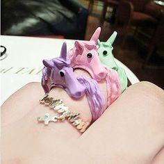 Unicorn Finger Ring //Price: $14.99 & FREE Shipping //     #hashtag3
