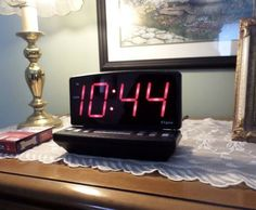 A low vision or large number clock is just one of many macular degeneration aids used in my father-in-laws home.