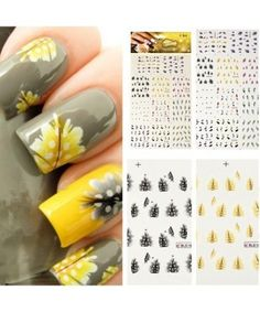 Peacock Feathers Nail Stickers