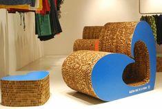 Muebles de cartón de Ágata Ruiz de la Prada