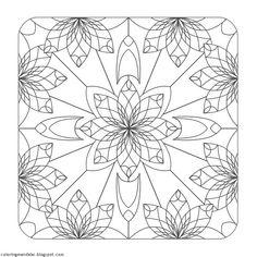Beryl Mandala Coloring Page - (coloringmandalas.blogspot)