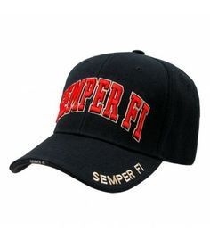 c3231c27b07 Marines Semper Fi Legend Cap Black (USMC) Military Cap