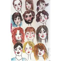 A bunch of people after taking Amarilys Henderson's super fun class: Expressive Little Faces. I need to make more, that was fuuuuun. People Illustration, Making Faces, Mixed Media Artwork, Daily Drawing, Project 365, Make Art, Drawing People, Portrait, Instagram Posts