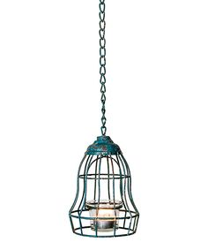 Another great find on #zulily! Blue Wire Distressed Lamp-Shape Candleholder by Designs Combined Inc. #zulilyfinds