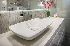 Simply Bathroom Solutions- built & designed. #basin #topmounted #white #grey #bathroomideas