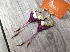 Macrame boho elven earrings custom order por creationsmariposa