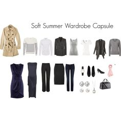 """Soft Summer Capsule Wardrobe"" by katestevens on Polyvore. I love it when I have all the pieces!"