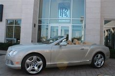 2013 Bentley ContinentalGTC Base AWD 2dr Convertible Convertible 2 Doors White Satin for sale in Northbrook, IL Source: http://www.usedcarsgroup.com/used-bentley-for-sale-in-northbrook-il