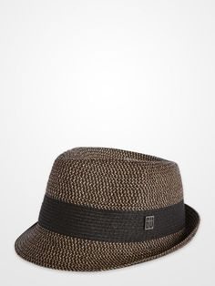 Men's Accessories - Blair Underwood Brown Straw Fedora - K Fashion Superstore