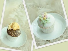 Flower or Antiques Cup Cake