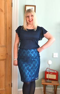Just as the Great British Sewing Bee seems to have evolved as a TV series (more challenging tasks, contestants working with a variety of di. Classic Style, My Style, Classic Fashion, Nylons Heels, Stretch Lace, My Girl, Sequin Skirt, Sexy Women, Classy