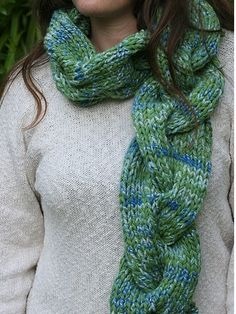 Gigantic Cable Scarf inspiration, no pattern