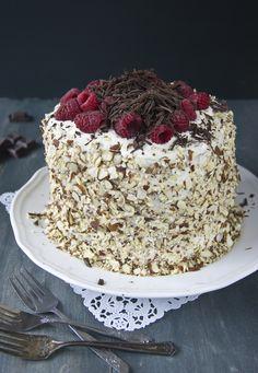 Raspberry Panettone Christmas Cake