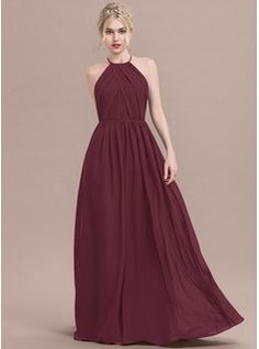 84d863184f1 ... Floor-Length Ruffle Zipper Up Spaghetti Straps Sleeveless No Stormy  Spring Summer Fall Winter General Plus Chiffon US 2   UK 6   EU 32 Bridesmaid  Dress