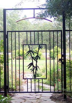 Asian Style Garden Gate - asian - spaces - other metro - Cheryl von Tress Design Group