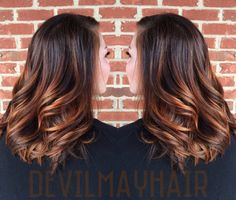 Salted Caramel balayage -- lightened with Wella Freelights and toned with Paul Mitchell Shines XG.