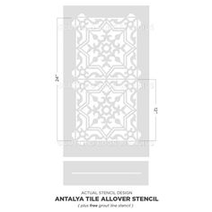 Antalya Tile Stencils for DIY Painted Tile - Easy Remodel - Just Stencil Your Tiles! Tile Stencils, Stencil Painting On Walls, Large Stencils, Faux Painting, Stencil Designs, Diy Painting, Damask Stencil, Accent Wall Bedroom, Accent Walls