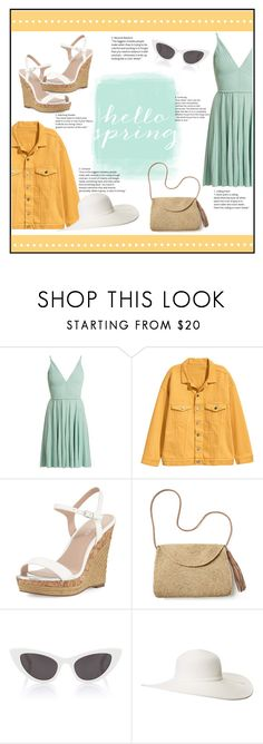 """""""flirty spring 2018"""" by p-hoebe-798 ❤ liked on Polyvore featuring Elie Saab, Charles by Charles David, Mar y Sol, Yves Saint Laurent, Scala, Spring, pretty and 2018"""