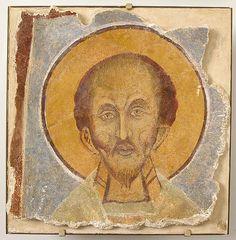 St. John Chrysostom (12th century fresco, Metropolitan Museum of Art, New York)