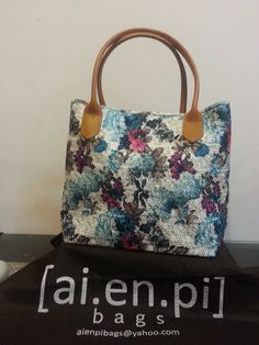 Small - Blue Flower Embroidery Handmade Bag. Still Available, please contact niko.hendratmo@gmail.com for inquiry and orders worldwide