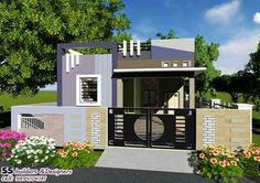 House Front Wall Design, House Main Gates Design, Single Floor House Design, Village House Design, Kerala House Design, Bungalow House Design, Small House Design, Modern House Design, 2bhk House Plan
