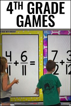 Grade Fraction FREE Game [Converting Improper Fractions to Mixed Numbers] 4th Grade Fractions, Improper Fractions, 4th Grade Games, Fourth Grade, Classroom Games, Classroom Ideas, Place Value Math Games, Fraction Games, Upper Elementary Resources