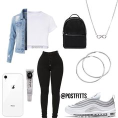 What are some good casual school outfits? Boujee Outfits, Baddie Outfits Casual, Swag Outfits For Girls, Cute Teen Outfits, Teenage Girl Outfits, Cute Comfy Outfits, Dope Outfits, Teen Fashion Outfits, Stylish Outfits