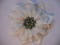Vintage Blume Shabby Nostalgie Retro Spitze Glitzer Weihnachtsdeko Handarbeit