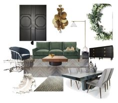 """Living room"" by mukhtarova-patimat on Polyvore featuring interior, interiors, interior design, дом, home decor, interior decorating, Kelly Wearstler, Tom Dixon, Hervé Van Der Straeten и living room"