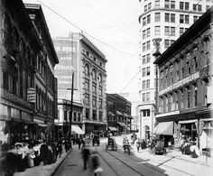 Early 1900s view of Whitehall Street (now Peachtree Street).