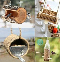 23 DIY Bird Feeder Ideas for Your Garden - http://www.amazinginteriordesign.com/23-diy-bird-feeder-ideas-garden/