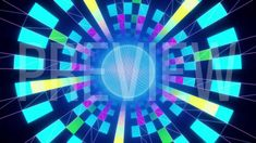 Rotating Sphere on Colorful Squared Background