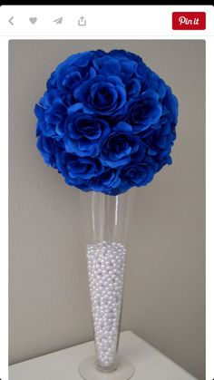 ROYAL BLUE Elegant wedding flower ball Wedding by KimeeKouture relationship wants / royal blue dress for wedding / royal blue wedding dress / blue wedding dress royal / royal blue wedding Royal Blue Flowers, Blue Wedding Flowers, Wedding Colors, Exotic Flowers, Yellow Roses, Purple Flowers, Trendy Wedding, Elegant Wedding, Diy Wedding